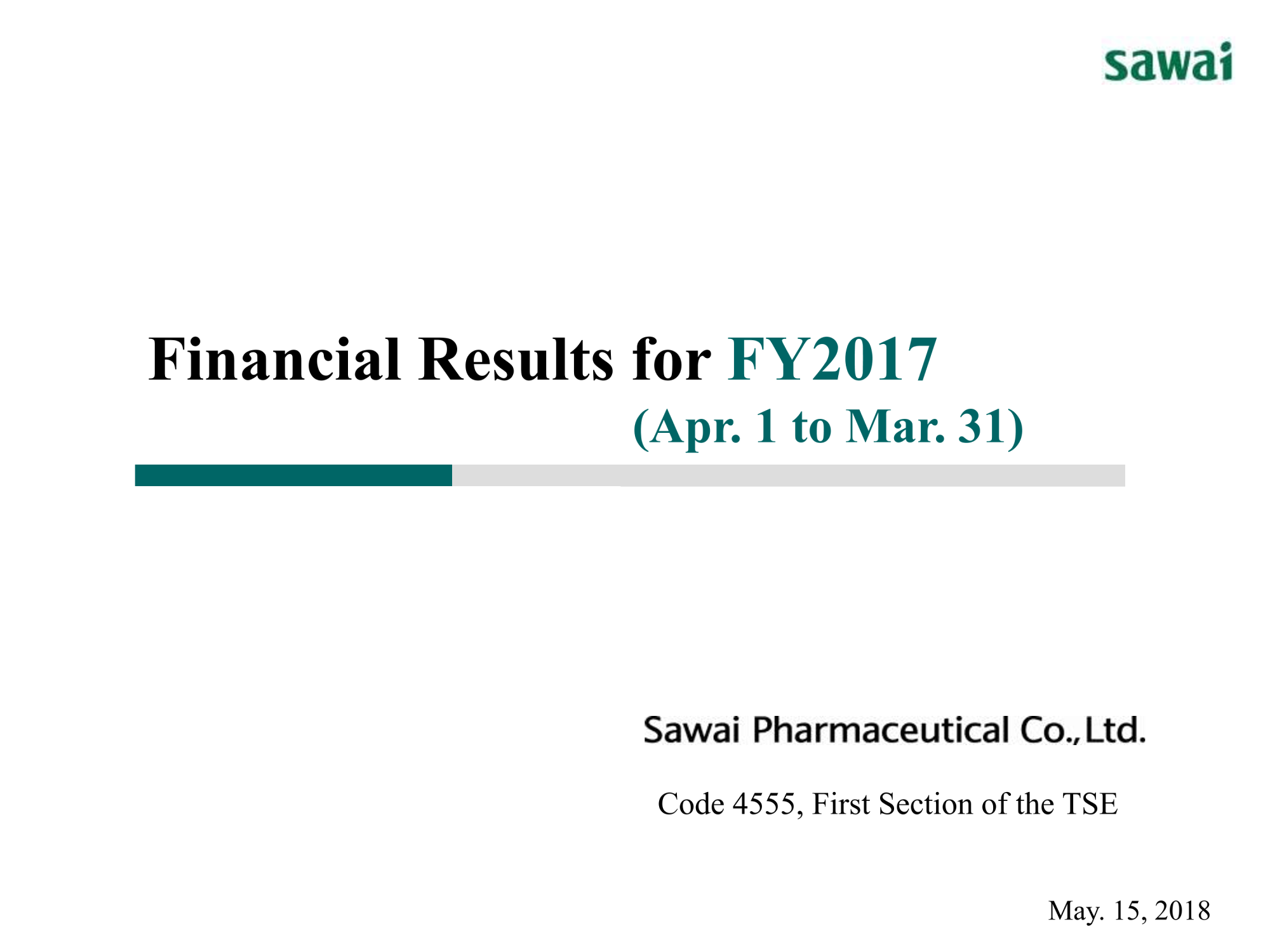 financial results for fy2017